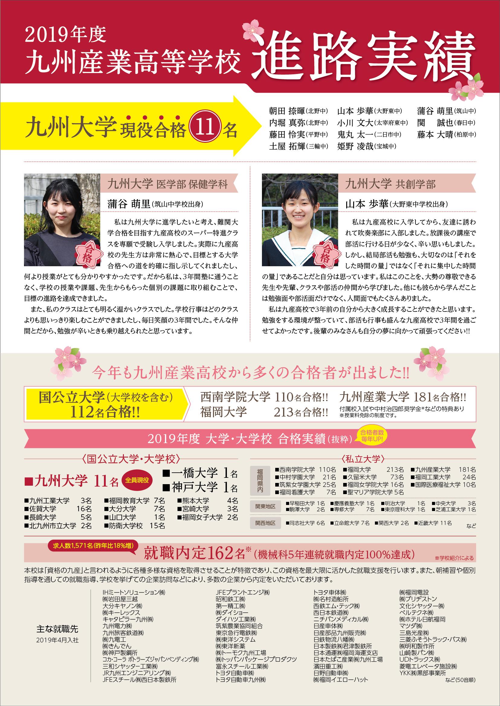 進学 福岡 実績 高校